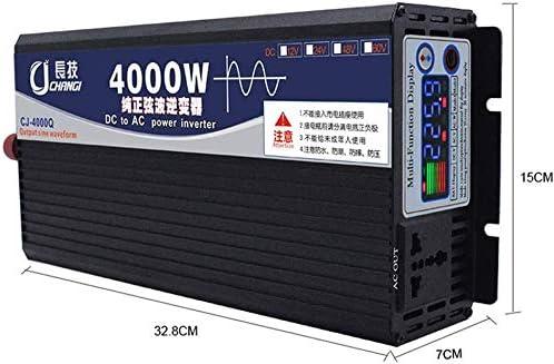 3000W純粋な正弦波インバーターDC 12V / 24VからAC 220V電源インバータースマートフォンタブレットラップトップブレストポンプネブライザーなどの高効率DC電源インバーター(ピーク6000W)24V-1000W