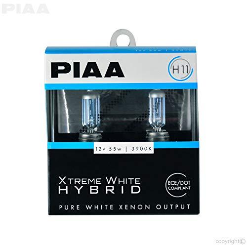 PIAA 23-10111 H11 Xtreme White Hybrid Bulb, 3900K-12V 55W-Twin, 2 Pack