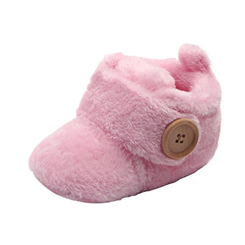 Axinke Winter Soft Warm Cute Baby Boys Girls Newborn Infant Shoes with Button Closure (3-6Month Length:11CM/4.3