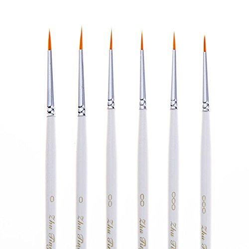 60off Fine Detail Paint Brush Set 6 Pieces Miniature Art Brushes