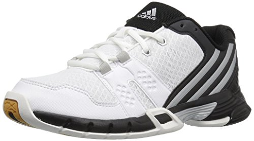 adidas Performance Womens Volley Team 4W Volleyball Shoe White/Matte Silver/Black BAMWXVtYS