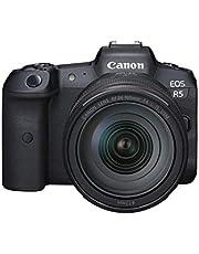 Canon EOS R5 Full Frame Mirrorless Camera + RF 24-105mm F4 L is USM Lens Kit, Black (4147C013)