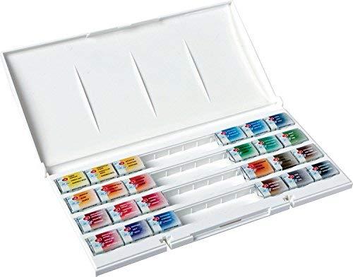 - White Nights Watercolour Artists Watercolour Whole Pans, Plastic, Multi-colour, Set of 24