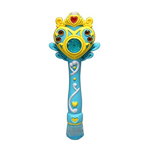 Princess Bubble Wand Toy Electronic Automatic Light Wand Maker Outdoor Bubbles Gun Machine Music Blue - Princess Bubble Wand