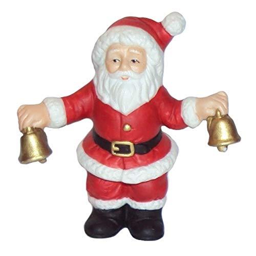 Lefton 1990 Geo Z Colonial Village 07823 Santa Claus Holding Bells Figurine ()