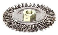 "Weiler 13232 Stringer Bead Knot Wire Wheel, 4 1/2"" Diameter x 3/16"" Width, 5/8-11 UNC, 0.02"", 12500 rpm (Set of 1/EA)"