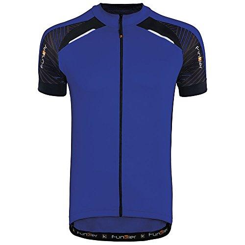 Funkier Men's Firenze Short Sleeve Cycling Jersey (XX-Large, Blue) from Funkier
