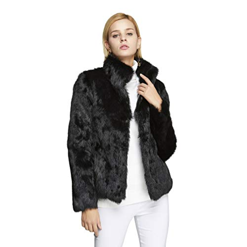Fur Story Women's Real Rabbit Fur Coat with Mandarin for sale  Delivered anywhere in USA