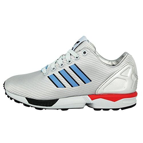 Adidas Originals ZX FLUX Chaussures Mode Sneakers Unisex Argent