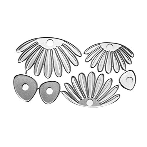 Focal20 6pcs Stencil Cutting Dies Silver Petal Style DIY Scrapbooking
