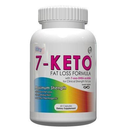 7-Keto Formule Fat Loss avec 7-oxo-DHEA-acétate de 60 capsules, 100 mg