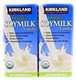 Kirkland Signature vanilla flavor of the USDA organic soymilk (soy milk) 946mlx12 pieces