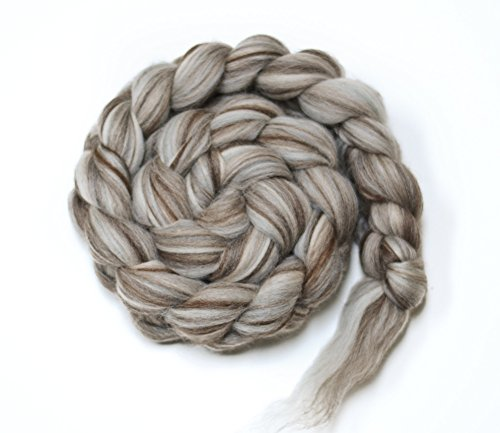 SHIPS FROM THE USA Merino Natural Undyed Wool Roving Combed Top Spinning or Felting Fiber ()