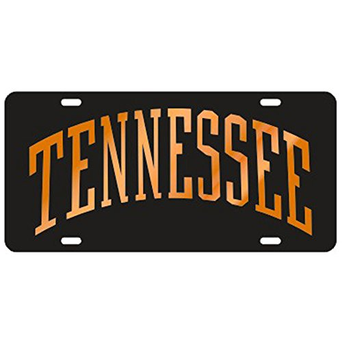 (Tennessee Volunteers Black Arched Tennessee Laser Cut License Plate)