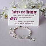 Baby's 1st Birthday Gift Bracelet Baby to Bride