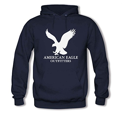 (American Eagle Outfitters White Logo Printed For Mens Hoodies )