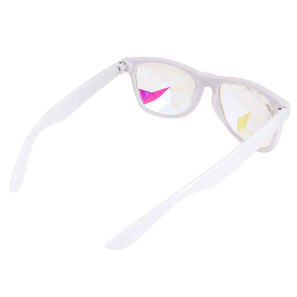 Festival EDM for Rave Light Show Holidays 2pcs Pack Ultimate Festivals Kaleidoscope Glasses- Goggles Rainbow Rave Prism Diffraction Crystal Lenses 2pcs Black Color