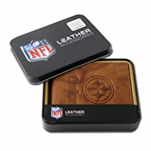 NFL Pittsburgh Steelers Embossed Genuine Cowhide Leather Passcase
