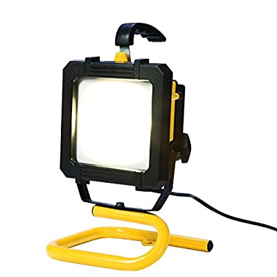 All-Pro LED Portable Worklight with Stand, 300-watt Equivalent, 2600 Lumens, Yellow