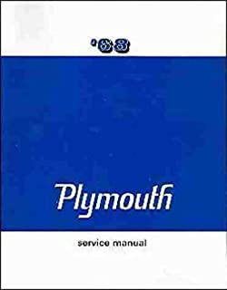 amazon com factory shop service manual for 1968 plymouth 1968 plymouth factory repair shop service manual covers barracuda belvedere satellite