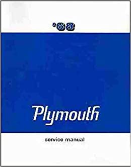 1968 plymouth factory repair shop & service manual - covers: barracuda,  belvedere, satellite, sport satellite, gtx, fury (i, ii, & iii), sport  fury, vip,