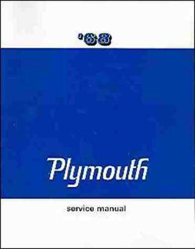 1968 PLYMOUTH FACTORY REPAIR SHOP & SERVICE MANUAL - COVERS: Barracuda, Belvedere, Satellite, Sport Satellite, GTX, Fury (I, II, & III), Sport Fury, VIP, Valiant, Signet, and Station Wagons. 68