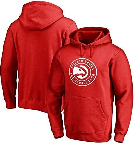 バスケットボールフーディーNBAアトランタホークススポーツジャケットスウェットシャツトップスバスケットボールコンペティションジャージ (Color : Red, Size : Medium)