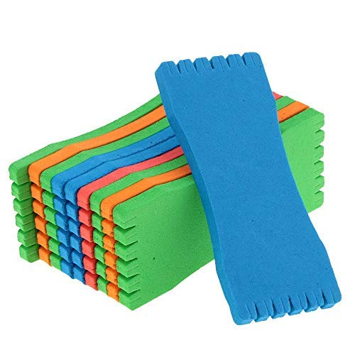 DaKuHo Fishing rig Holder Fly Foam 10Pcs/lot Fishing Winding Line Board Foam Wire Board Fishing Boards Fishing Tackle Accessories EVA Fishing Tackle Box De Pesca (14cm) by DaKuHo