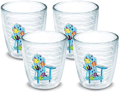 - Tervis 1137808 Tropical Fish Adirondack Chair Tumbler with Emblem 4 Pack 12oz, Clear