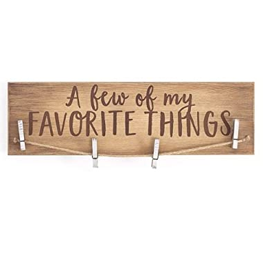NATURAL WOOD CLIP PHOTO HOLDER - A Few of My Favorite Things or Our Grandkids (A few of My Favorite Things)