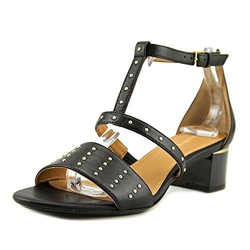 Calvin Klein Womens Divina Open Toe Ankle Strap D-Orsay Pumps, Black, Size 8.0 - Divine Ankle Strap Pumps