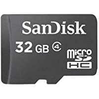 SanDisk 32GB Class 4 microSDHC Flash Memory Card