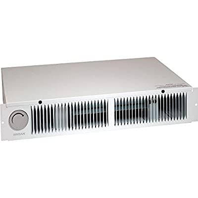 Broan 112 Kickspace Fan-Forced Wall Heater with Built-In Thermostat, White