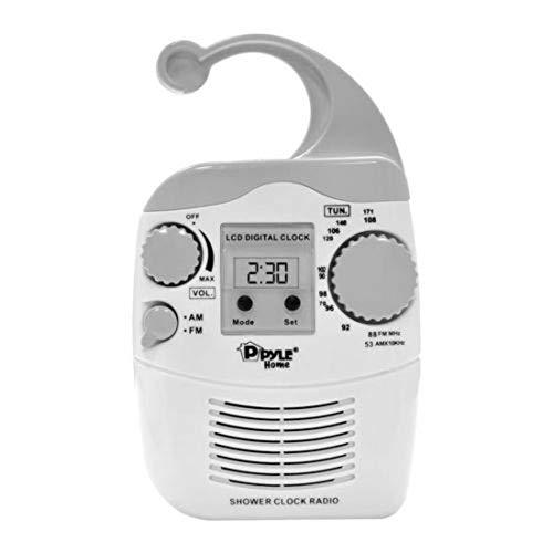 Hanging Waterproof & Steamproof AM/FM Shower Clock Radio