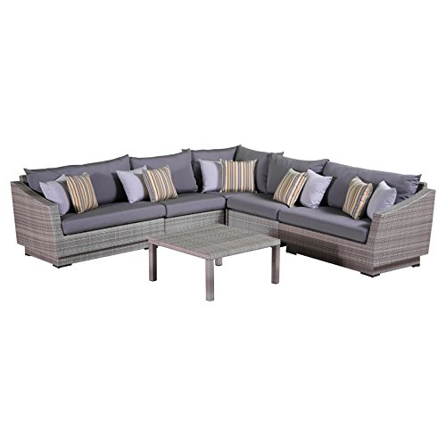 Buy Sectional Sofa In Dubai: RST Brands 6-Piece Cannes Modular Sectional Sofa Patio