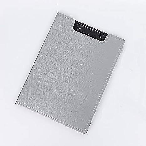 Carpetas de archivadores de oficina A4 PP con clip para dibujo, tablero de menú con clip de alta resistencia, color gris 32x24cm: Amazon.es: Oficina y ...
