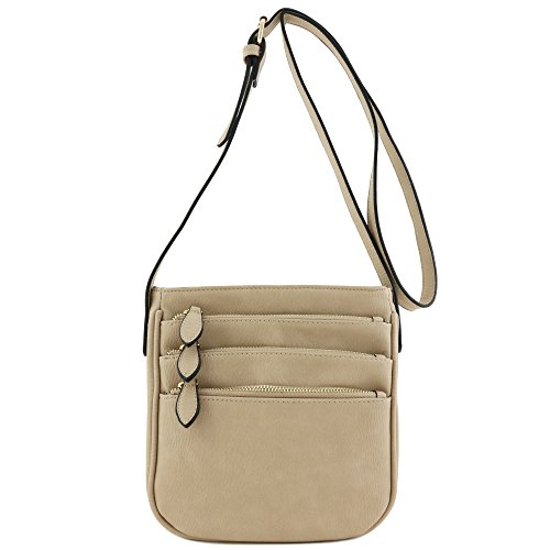 Pocket Sand Bag Medium Multi Crossbody Zipper Functional 6qUzEU