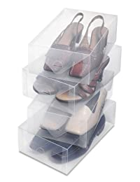 Whitmor Clear Vue Women's Shoe Box, S/4