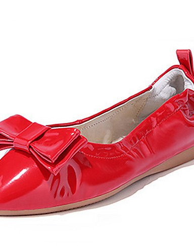 us8 Cuero Tac¨®n ZQ uk6 Bailarinas red eu39 eu39 Rojo Puntiagudos us8 uk6 red Casual us8 eu39 cn39 Mujer uk6 cn39 cn39 red Azul Plano Patentado Almendra Bailarina U0Bq5cUwr