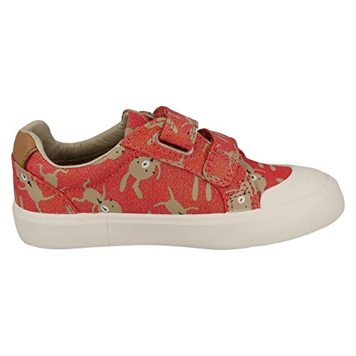 Clarks Mädchen Comic Cool Inf Low-Top Coral (Red)