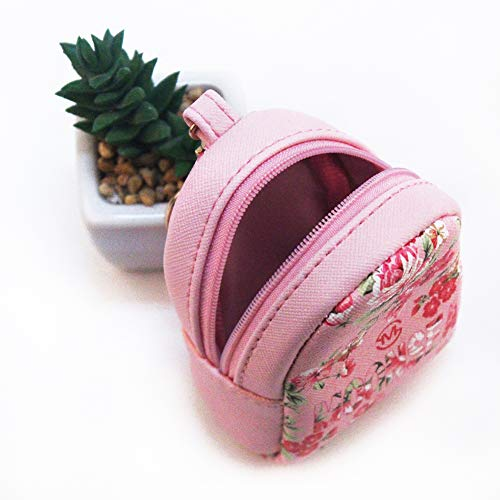 Mini Coin Purse Keychain Wallet Backpack Shape with Key Ring,2 Pack Photo #2