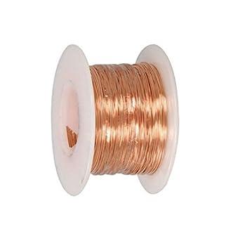 24 Ga Bare Copper Wire 100 Ft Spool (Dead Soft): Amazon.com ...