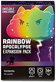 Unstable Unicorns Rainbow Apocalypse Expansion Pack - designed to be added to your Unstable Unicorns Card Game