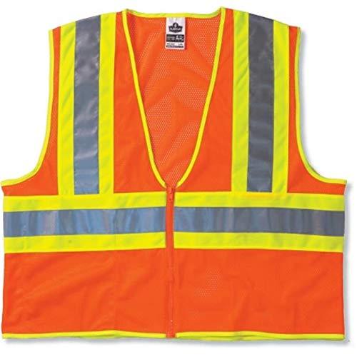 FashionFirst Glowear 8229Z Econ Class 2Two-Tone Vest - Orange, Large-Extra Large