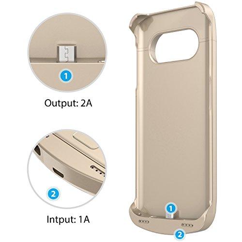 Savfy Galaxy S7 Edge Charger Case 5200 Mah Portable