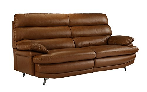 Divano Roma Furniture Cl Ic Real Leather Sofa Couch Camel
