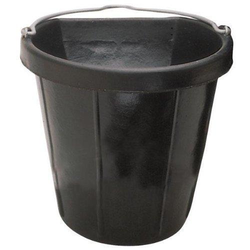 Fortex Flat Side Feed Bucket for Horses, 18-Quart by FortexForiflex Inc.