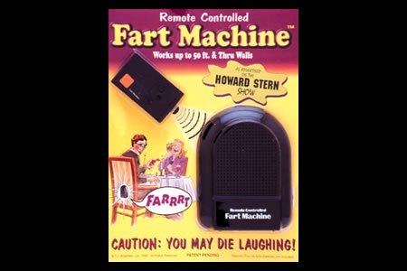 T.J. Wiseman Remote Controlled Fart Machine No. 2 (Cushion Giant Whoopie)