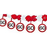 Folat Garland, Road Sign 60, Of Tissue Paper, 4 M