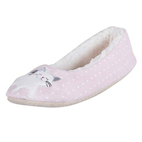 Autumn Faith - Zapatillas de estar por casa para mujer rosa rosa